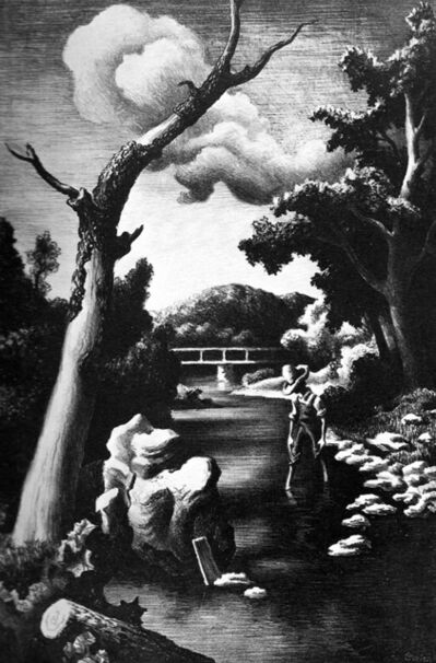 Thomas Hart Benton, 'Shallow Creek', 1939