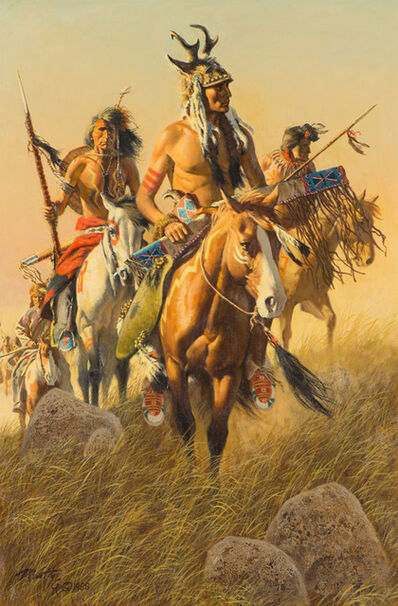 Frank McCarthy, 'Warriors of the Northern Plains', 1988