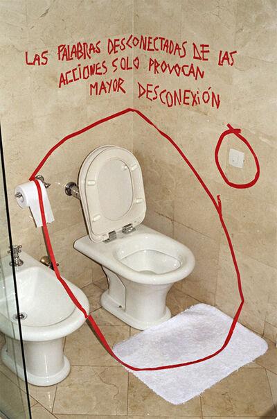 Dudu Alcón Quintanilha, 'Las palabras desconectadas de sus acciones sólo provocan mayor desconexión', 2013