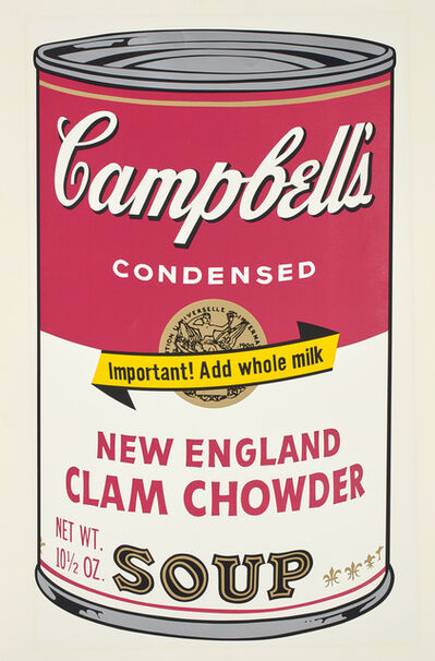 Andy Warhol, 'New England Clam Chowder, from Campbell's Soup II', 1969