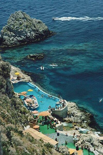 Slim Aarons, 'Taormina Pool, Sicily', 1975