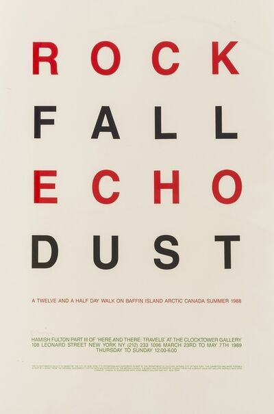 Hamish Fulton, 'Rock Fall Echo Dust', 1988