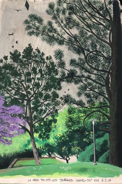 Cole Case, 'La Brea Tar Pits With Jacaranda Looking 310 Degrees NW 6.2.19', 2019