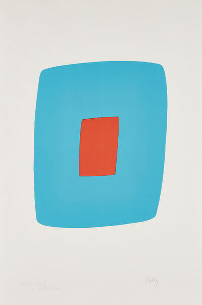 Ellsworth Kelly, 'Light Blue with Orange (Bleu clair avec orange), from Suite of Twenty-Seven Color Lithographs', 1964-65