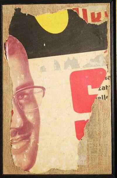 Mimmo Rotella, 'Un Occhiale', 1960