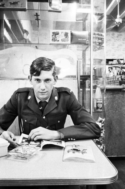 David Goldblatt, 'Young policeman in a cafe, Pretoria, Transvaal', 1967