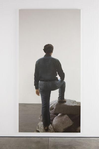 Michelangelo Pistoletto, 'Uomo di schiena, sulla roccia (Man from the back, on rocks)', 2008