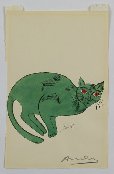 Andy Warhol, 'Green Sam - from 25 Cats Named Sam and One Blue Pussy', 1954