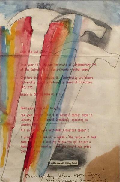 Jim Dine, 'Untitled (Hammer and Rainbow)', 1963
