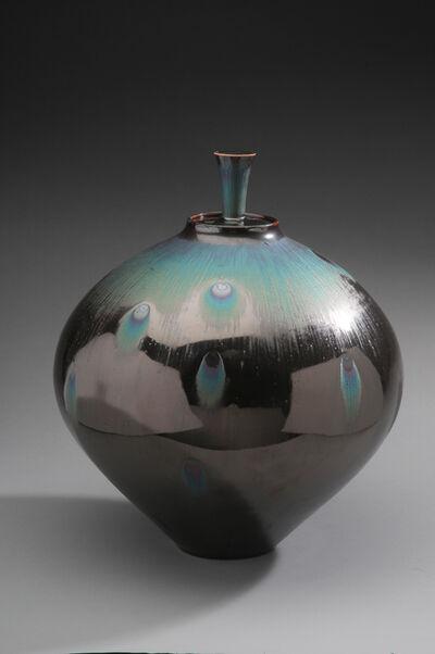 Hideaki Miyamura, 'Jar, peacock glaze', 2019