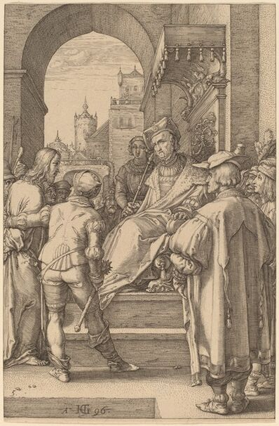 Hendrik Goltzius, 'Christ before Pilate', 1596