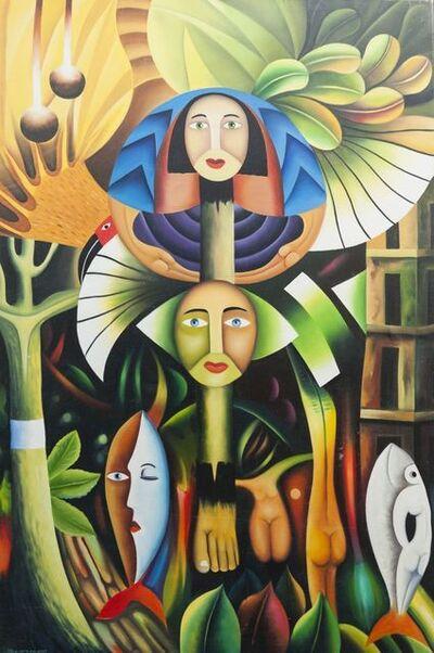 Clemente Segrera, 'Tropical landscape with symbolic figures'