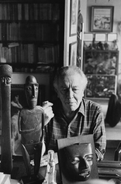 Henri Cartier-Bresson, 'French poet, André Breton, at his home France, Paris, 18th arrondisement, Rue Pigalle, 1961.', printed later