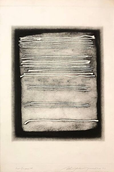 Adja Yunkers, 'Large Intaglio Etching Abstract Latvian American Modernist Artist Embossing', 20th Century