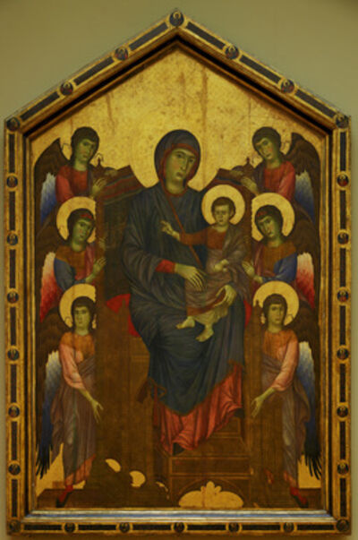 Cimabue, 'Virgin and Jesus in Glory, Surrounded by Six Angels (also caled Madonna and Child)', ca. 1260-1280