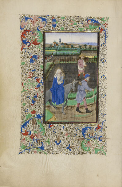 Master of the Llangattock Hours, 'The Flight into Egypt', 1450