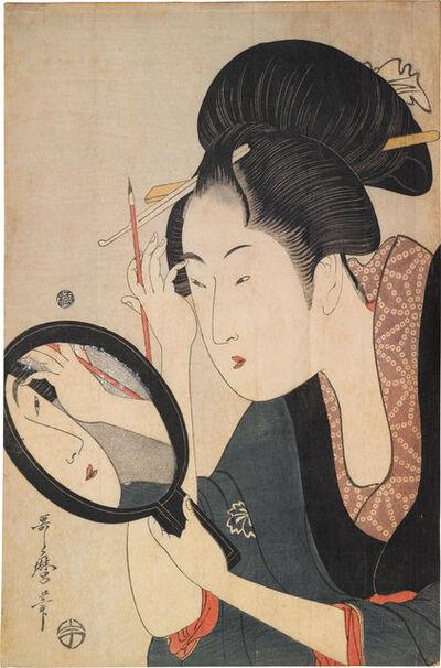 Kitagawa Utamaro, 'Painting the Eyebrows',  ca. 1795-96