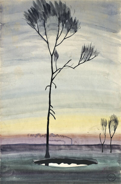 Charles Ephraim Burchfield, 'Tree and Pond', ca. 1920