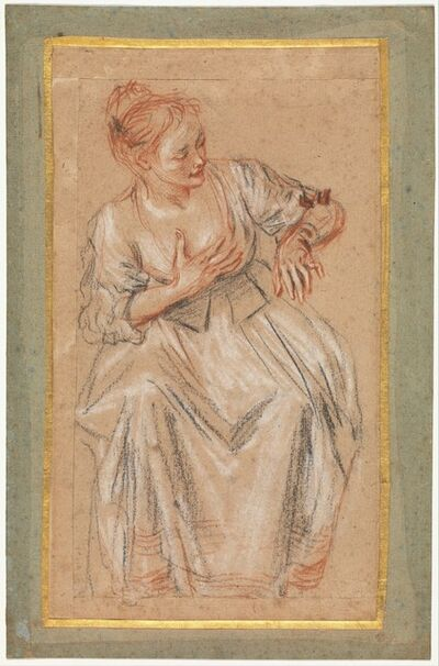 Jean-Antoine Watteau, 'Seated Woman', 1716–1717