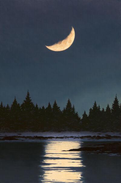 David Vickery, 'Moonset, Winter ', 2018