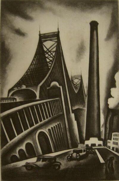 Howard N. Cook, 'Queensboro Bridge', 1930