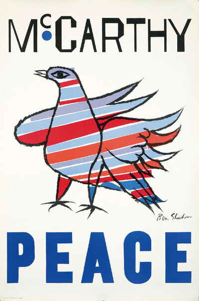 Ben Shahn, 'Ben Shahn McCarthy Peace', 1968