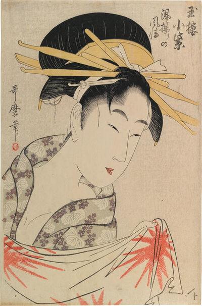 Kitagawa Utamaro, 'Komurasaki of the Tamaya House After a Bath', ca. 1797-99