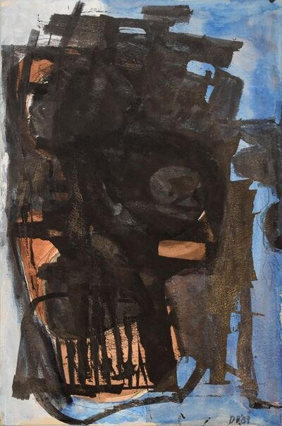 Dusti Bongé, 'Untitled (Blue, Black and Brown Abstract)', 1987