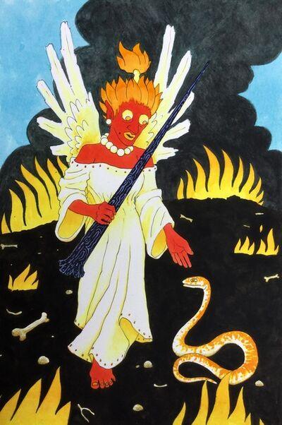 Jack Bride, 'Fire Angel w/ Snake', 2018