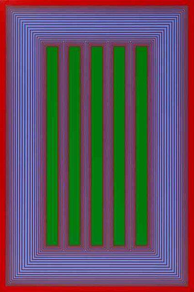 Richard Anuszkiewicz, 'Temple of Permanent Green #710', 1983