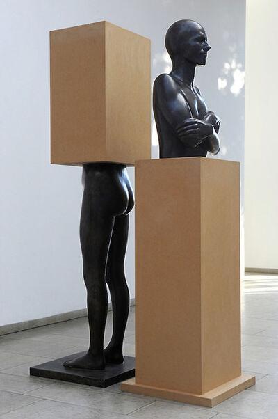 "Timm Ulrichs, '""Im Sockel - vom Sockel""', 1990"