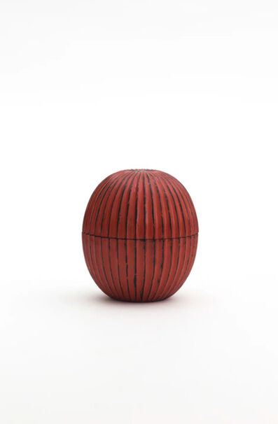 Jihei Murase, 'Negoro-Nuri ridged tea caddy ', 2018