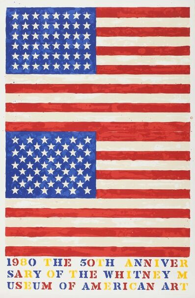 Jasper Johns, 'Two Flags (Whitney Museum of American Art 50th Anniversary)', 1979-1980