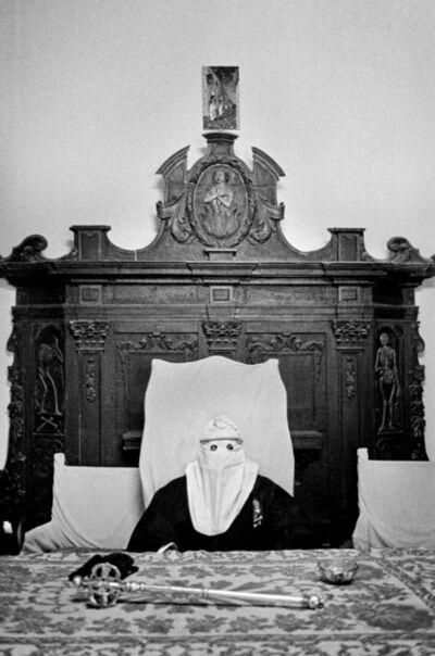 Letizia Battaglia, 'Hooded before the procession, Palermo', 1977