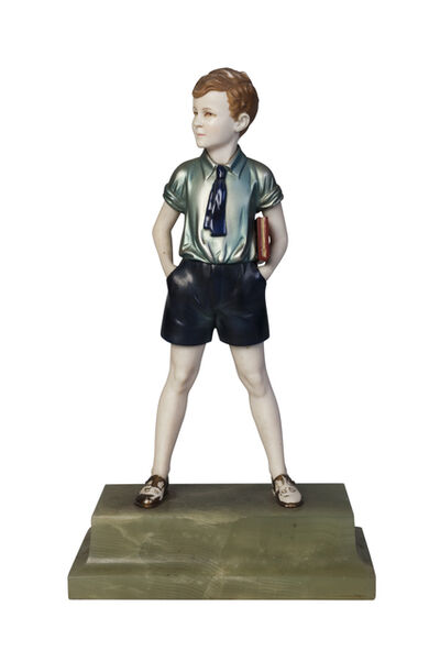 Ferdinand Preiss, ''Sunny Boy', a cold-painted bronze and ivory figure', c.1930