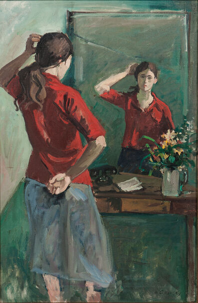 Nicolai Cikovsky, 'Girl at Mirror'