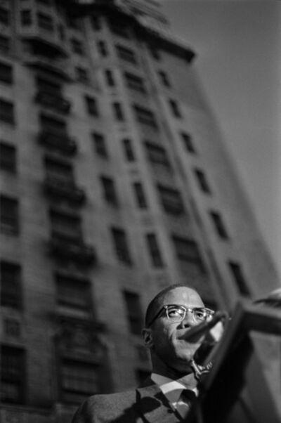 Larry Fink, 'Malcolm X, Rally for Birmingham, Harlem, NY,', May 1963
