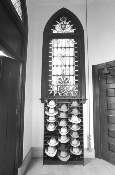 Laura Wilson, 'Sunday Morning: Hats in the Vestibule of the Matthews Memorial Presbyterian Church, Albany, Shackelford County, Texas, 1988'