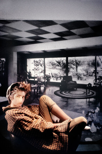 Laurie Simmons, 'Houndstooth Checked Coat in Black and White Room', 1984