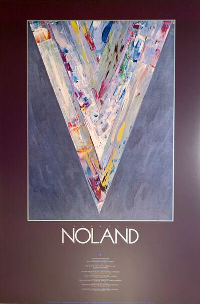 Kenneth Noland, 'Kenneth Noland Museum Exhibition Original Continuous Tone ( No Dots) Lithographic Poster, Gallery Poster ', 1987