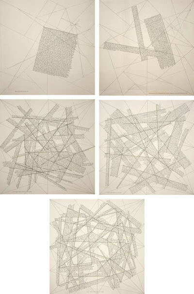 Sol LeWitt, 'The Locations of Lines', 1975