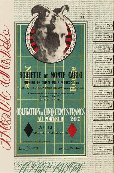 Marcel Duchamp, 'Monte Carlo Bond', 1924