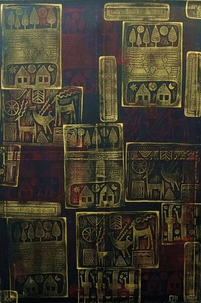 Leyla Mahat, 'Future in the Past. Gold on Red', 2007