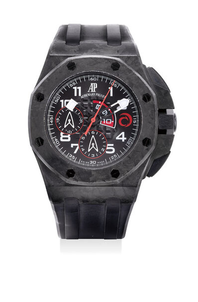Audemars Piguet, 'A fine and rare carbon automatic regatta chronograph wristwatch with box, numbered 387 of a limited edition of 1300 pieces', 2007