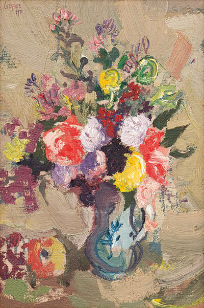 Gregoire Johannes Boonzaier, 'Still Life with Vase of Flowers', 1971