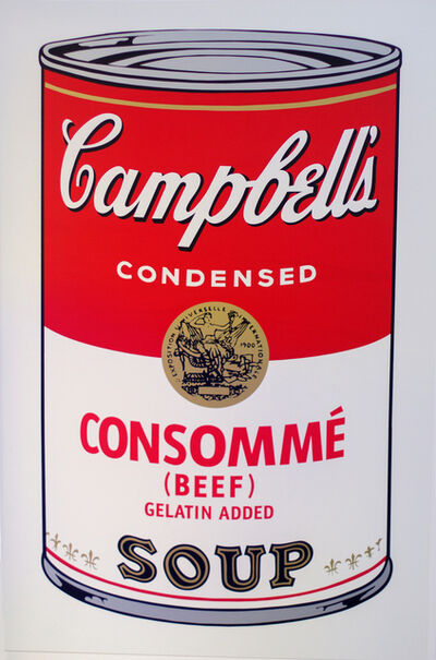 Andy Warhol, ' Campbell's Consommé Soup I - After Warhol', 2018