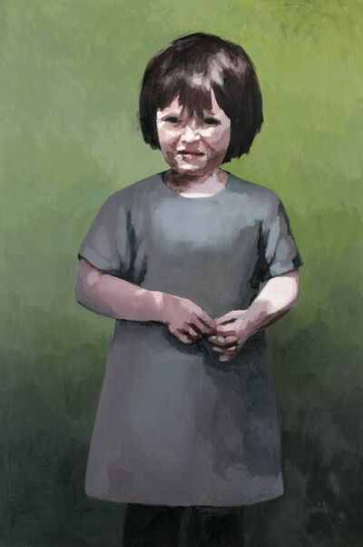 Claerwen James, 'Girl in dappled light', 2010