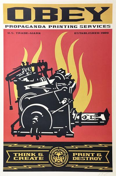 Shepard Fairey, 'Obey - Propaganda Printing Services', 2020