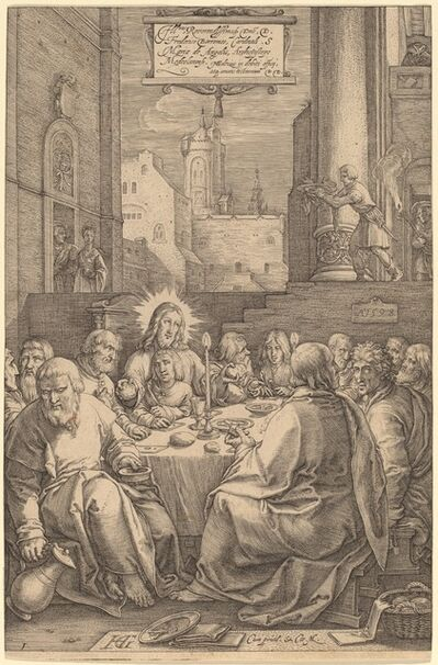 Hendrik Goltzius, 'The Last Supper', 1598
