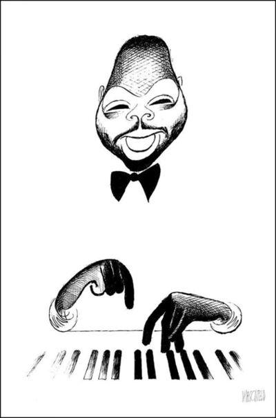 "Al Hirschfeld, '""Count Basie""', 1996"